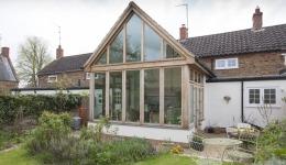 Oak Framed Extension to a Listed Cottage in Everdon 043